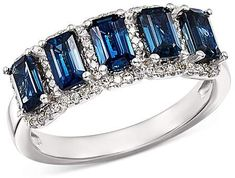 Bloomingdale's Sapphire & Diamond Ring in 14K White Gold - 100% Exclusive