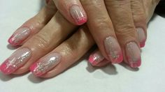 Pink french Ninas Nails, French, Pink, Beauty, French People, Hot Pink, French Language, French Resources, Pink Hair