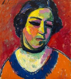 Portrait of a Woman | The Museum of Fine Arts, Houston   Alexei von Jawlensky, Russian, 1864–1941