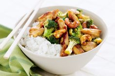 Chicken, broccoli and cashew stir-fry - Another manic Monday? Whip up this chicken and cashew nut stir-fry in a flash.