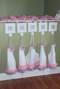 Girl Party - decorate cupcakes and take home apron as party favor