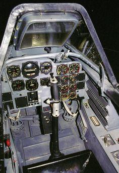 Cockpit of a ME 262