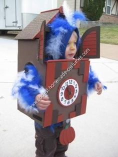 "Homemade Cuckoo Clock Halloween Costume: When we asked my two-year-old son what he wanted to be for Halloween he responded with words we have heard often in recent months, ""Cuckoo"".  For the past"