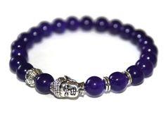 Amethyst Bracelet Buddha Jewelry Healing Bracelet Mala Beads Bracelet Lotus Bracelet Prayer Stones Healing Jewelry Mala Bracelet Wrist Mala