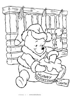 Winnie The Pooh Disney Christmas Coloring Pages See the category to find more printable coloring sheets. Also, you could use the search box to find wh. Fall Coloring Pages, Cartoon Coloring Pages, Disney Coloring Pages, Animal Coloring Pages, Adult Coloring Pages, Coloring Pages For Kids, Coloring Books, Kids Coloring, Coloring Worksheets