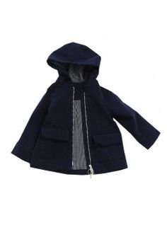 TINY COTTONS Twill Coat in Navy