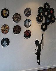 Vinyl records decoration home-inside