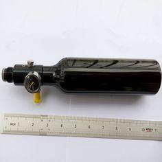 13ci aire comprimido paintball hp tanque de aire de control del cilindro de gas de alta presión de 220 ml con válvula reductora de presión 4500psi aluminio