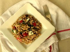 Mediterranean Farro Salad!Have to try this!!  http://magnoliadays.com/2012/mediterranean-farro-salad/