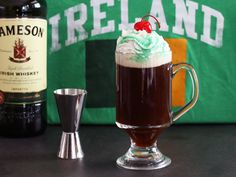 Time for the ultimate Irish coffee clone recipe from the country's favorite Irish-themed chain restaurant to warm you up. It looks great with green creme de menthe drizzled over the whipped cream, and it's topped off with a cherry hat. Source:Top Secret Recipes: Sodas, Smoothies, Spirits & Shakesby Todd Wilbur.