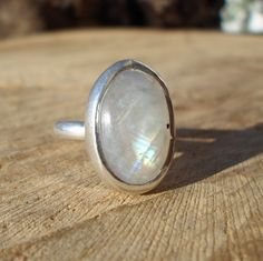 moonstone ring-stone silver ring-statement silver sterling silver ring-large crystal ring-energy stone ring-adjustable ring by ARTEAMANOetsy on Etsy Moonstone Healing Properties, Rainbow Moonstone Ring, Crystal Ring, Large Crystals, Adjustable Ring, Gemstone Rings, Rings For Men, Silver Rings, Sterling Silver