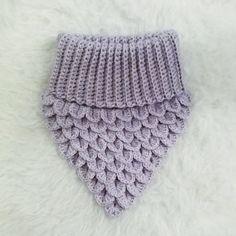 Virkad fuskpolo i crocodile stich Crochet Scarves, Crochet Shawl, Crochet Stitches, Knit Crochet, Knitting For Kids, Baby Knitting Patterns, Stitch Patterns, Crochet Patterns, Crochet Crocodile Stitch