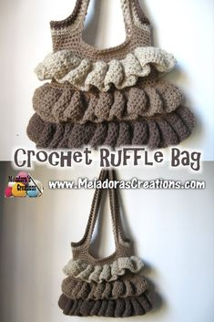 Your place to learn how to Make The Ruffle Bag for FREE. by Meladora's Creations - Free Crochet Patterns and Video Tutorials