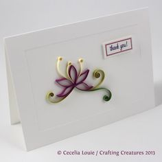 Crafting Creatures: Quilled Thank You Cards (8 of 8)