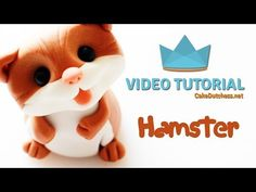 How to create a Hamster Cake Topper - Cake Decorating Tutorial Polymer Clay Cake, Polymer Clay Projects, Clay Crafts, Cake Topper Tutorial, Fondant Tutorial, Cake Dutchess, Foundant, Fondant Animals, Animal Cakes