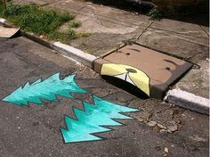 Giving graffiti a good name are these colorful storm drains by 6emeia project. #travel #world #color #graffiti