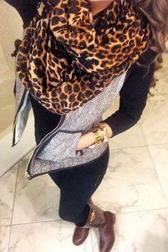 fall fashion leopard print vest