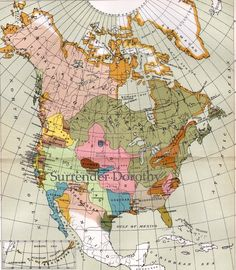 Native American Indian Languages Map 1896 Victorian Era Antique North American Cartography To Frame