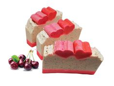 Items similar to Sweet Cherry Soap Soap for Her Artisan Soap Natural Soap For Him Natural Soap For Her Skin Care Soap on Etsy Birthday Gifts For Girlfriend, Vegan Soap, Sweet Cherries, Handmade Soaps, Body Soap, Party Favors, Pink Beige, Gifts For Her, Best Gifts