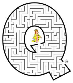 VISITE A GALERIA DE ALFABETOS CLICANDO AQUI! __ Este alfabeto é composto por letras em labirinto para a criança brincar enquanto aprende...