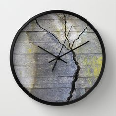 Betongtre Wall Clock by lisnas Wall Clock Frame, Unique Wall Clocks, Natural Wood, Crystals, Store, Art, Art Background, Storage, Crystals Minerals
