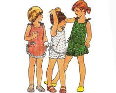 Uncut Vintage Sewing Pattern Girls's Summer Dress by mysweetiepiepie