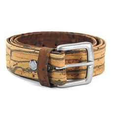 Reversible Belt Tan/Brown. 1.5 inches wide. Handmade in New York.  Made from sustainably harvested Cork tree bark. No animal derived materials were used.