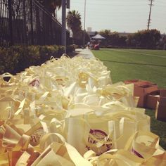 Stuffing goodie bags for 200 kids at the #FitForLife event with the Lakers! #healthysnacks @LakersCommunity