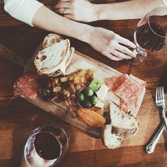 "thesoutherly: ""Good wine, food, and company. """