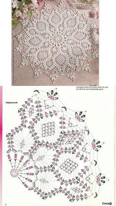 Free Crochet Doily Patterns, Crochet Mandala, Crochet Art, Crochet Home, Thread Crochet, Filet Crochet, Cute Crochet, Crochet Motif, Crochet Crafts