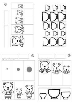 file Goldilocks and the three bears - Barbabra Astman Kindergarten Math, Preschool, Phonics Flashcards, Alphabet Sounds, Goldilocks And The Three Bears, Kids Canvas, School Decorations, Teaching French, Busy Book
