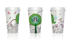 Starbucks / cup design on the Behance Network
