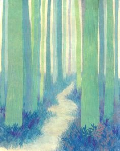 """On the road"" by Ari Kwon, PAINTING, x x cm, painting on koreanpaper Forrest Illustration, Pretty Cool, Daydream, Ethereal, Flower Art, Printmaking, Surrealism, Art Gallery, Delicate"