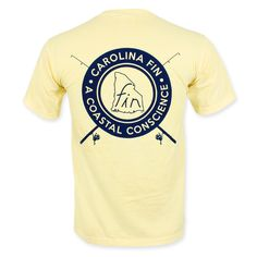 Carolina Fin Coastal Conscience T-Shirt - Yellow