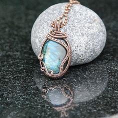 Copper Wire Wrapped Labradorite www.poppydot.co.uk
