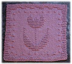 Tulip Dishcloth pattern by Rachel van Schie