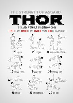 Avenger workouts from The NR Project