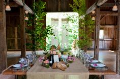 Rustic Family Style Tablescape