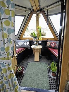 for the front deck but leave uncovered for full sun! Barge Boat, Canal Barge, Barge Interior, Interior And Exterior, Canal Boat Interior, Narrowboat Interiors, Houseboat Living, Make A Boat, Boat Storage