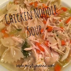 Fit for Life: Chicken Noodle Soup....21 Day Fix Approved!  Living in Chicago in the winter requires a nice, HOT SOUP for a meal!! This recipe definitely hit the spot!! Adding the chicken powder gave it a lot of flavor.  You can add whole wheat crackers for some crunch!  Your family will love it and it's great for lunch the next day! www.mistynanna.com