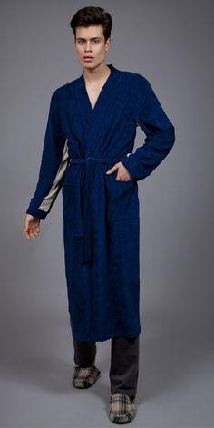 Men's robe Frottee 1753 Pyjamas, Shirt Dress, Luxury, Shirts, Men, Collection, Dresses, Fashion, Dress