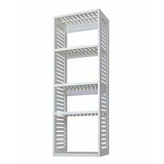 allen roth�6-ft 4-in White Wood Closet Tower Along back wall of closet - more drawers, possibly baskets or shoe divider