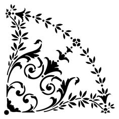 Classical stencils from The Stencil Library. Stencil catalogue quick view page Stencil Patterns, Stencil Art, Stencil Designs, Folk Embroidery, Japanese Embroidery, Embroidery Stitches, Embroidery Patterns, Stencils Online, Mandala