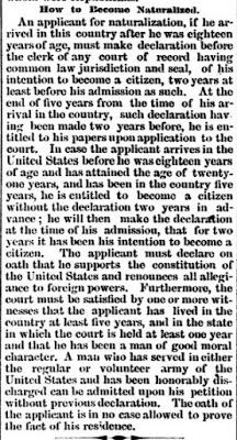 Genealogical Gems: On This Day: Naturalization explained