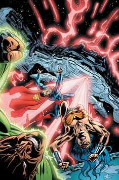 Justice League by Ron Garney & Dan Green Dc Comics Heroes, Dc Comics Characters, Marvel Dc Comics, Justice League Dark, The New Teen Titans, Superman And Lois Lane, Dc World