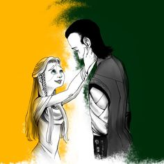 Sigyn:Hey... what happened?another bad day? Loki: ...yes