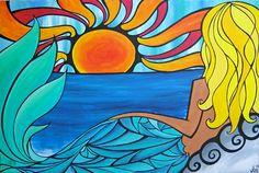 Surfer beach art | tyler warren # surfing # surf # surfboards