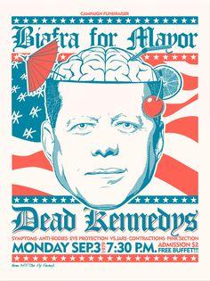 Dead Kennedys Serigrafía 2 tintas Edición de 25 ejemplares