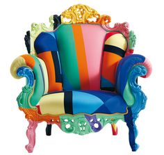 The colourful Proust Geometrica Mendini Armchair was designed by Alessandro Mendini for the Italian manufacturer Cappellini.The story of Cappellini began back i Funky Furniture, Colorful Furniture, Unique Furniture, Painted Furniture, Furniture Design, Furniture Chairs, Art Furniture, Furniture Websites, Furniture Online