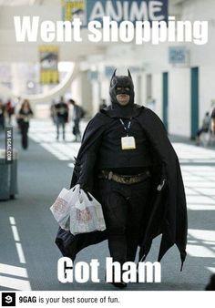 9GAG - Batman went shopping